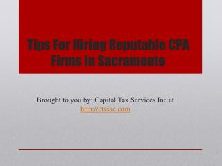 Tips for hiring reputable cpa firms in sacramento