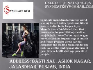 Buy fitness equipments from reliable seller