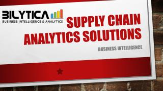 Supply Chain Analytic Solution for Business Growth