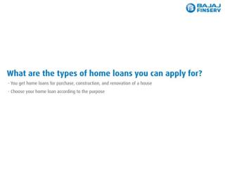 Different Types of Home Loans That You can Apply