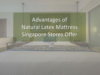 Advantages of Natural Latex Mattress Singapore Stores Offer