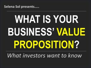 Intro to value propositions for entrepreneurs