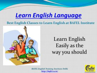 Learn English Language at BAFEL Institute