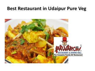 Best Restaurant in Udaipur Pure Veg