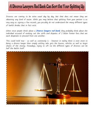 A Divorce Lawyers Red Bank Can Sort Out Your Splitting Up - Paonezaleski
