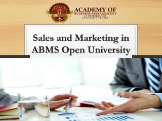 Sales and Marketing in ABMS Open University