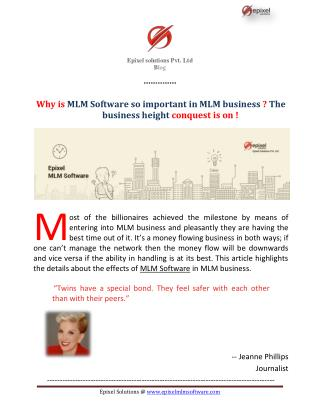 Why is MLM Software so important in MLM business? The business height conquest is on!