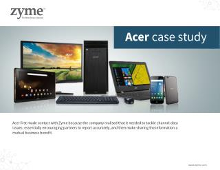 case study report acer Study acer provides students with tutoring and help them save time, and excel in their courses students love us.