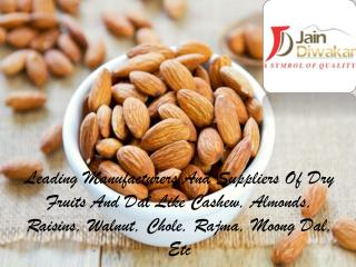 Almonds Manufacturers