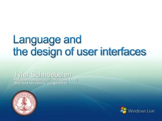 Language and  the design of user interfaces
