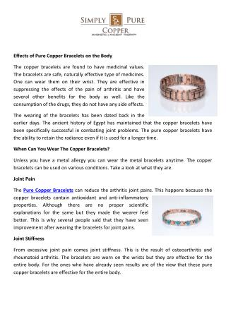 Buy Copper Bracelets Online, Pure Copper Bracelets Online Store USA
