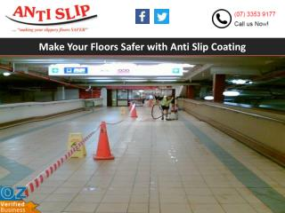 Make Your Floors Safer with Anti Slip Coating