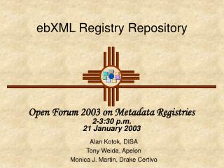 ebXML Registry Repository