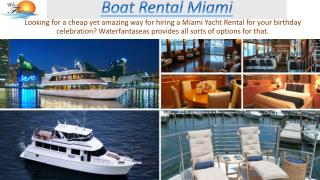 Boat Rental Miami - waterfantaseas.com
