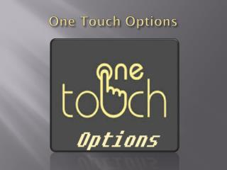 One Touch Option
