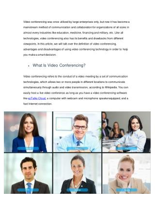 Main Advantages of Video Conferencing