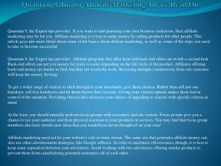 Quantum 9, Inc for Affiliate Marketing Advice Read On.pdf