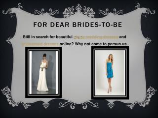 For Dear Brides-To-Be