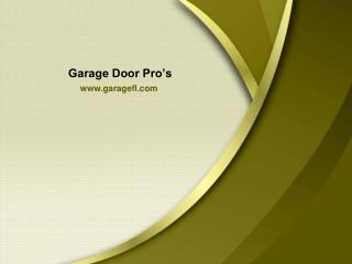 Garage Door Repair Plantation - Garage Door Pro's
