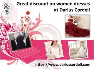 Get Darius Cordell unique dresses at huge discounts
