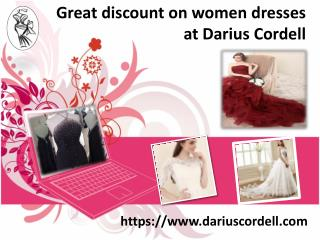 Shop online custom dresses from Darius Cordell