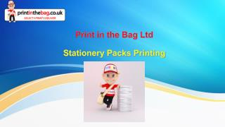Stationery Packs Printing