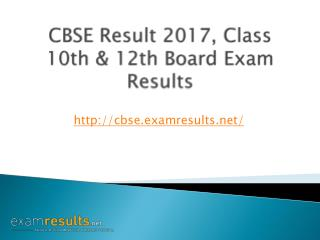 CBSE Result 2017, Class 10th & 12th Board Exam Results