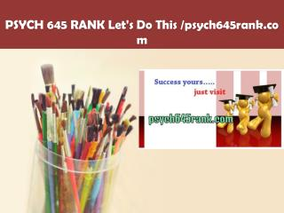 PSYCH 645 RANK Let's Do This /psych645rank.com