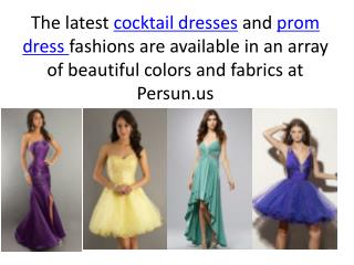 Cocktail And Prom Dresses For Fashion Fans From Persun