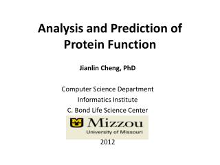 Analysis and Prediction of Protein Function