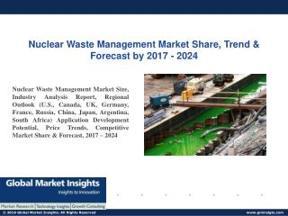 PPT for Nuclear Waste Management Market Latest Trends, 2017