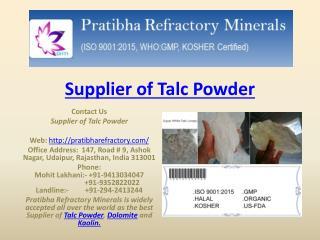 Supllier of Talc powder-Premium_Quality_Product