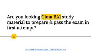 Cima BA1 Practice Questions
