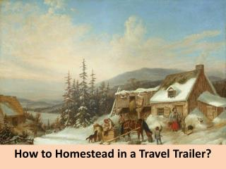 How to Homestead in a Travel Trailer?