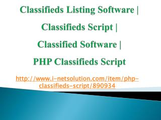 Classified Software | PHP Classifieds Script – i-Netsolution