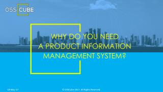 Why Do You Need a Product Information Management System?