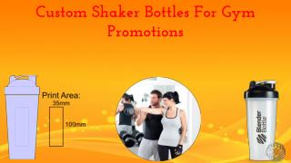 Custom Shaker Bottles For Gym Promotions