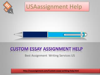 Custom Essay Writing | Toll Free 1-844-752-3111