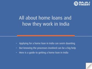 How Home Loans Work in India