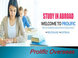 Overseas Education Consultants In Greater Noida - Prolific Overseas