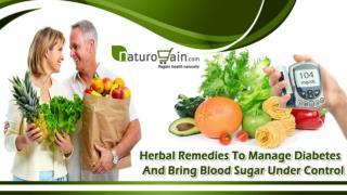 Herbal Remedies To Manage Diabetes And Bring Blood Sugar Under Control