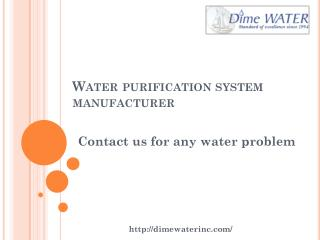 Municipal water treatment solutions san diego