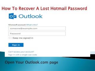 How to Recover your lost hotmail password