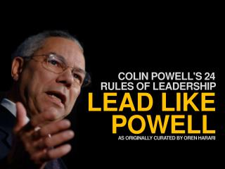 Colin Powell leadership principles