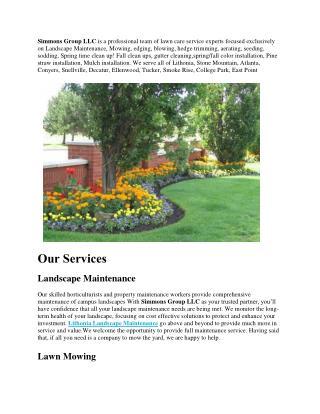 Landscape Maintenance, Lawn Mowing, Hedge Trimming
