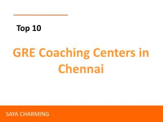 Top GRE Coaching Centers in Chennai