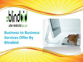 Find the online business to business service from Blindbid
