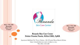 0811 1721 280, Suntik Whitening di Kalibata City Rinanda  Skin Care Center