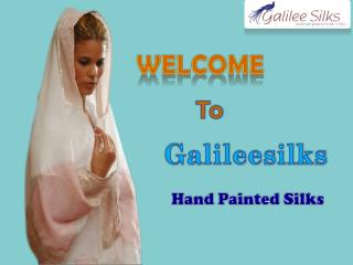 Best Hand Painted Silk Scarves available at Galileesilks