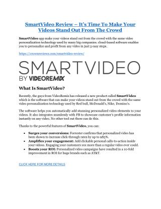 SmartVideo review and (Free) $21,400 Bonus & Discount